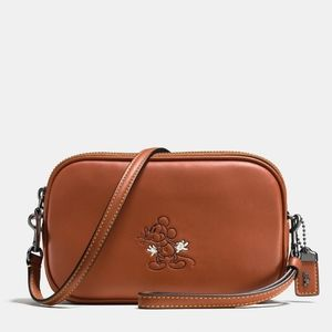 Coach Mickey Crossbody Clutch glove tanned leather